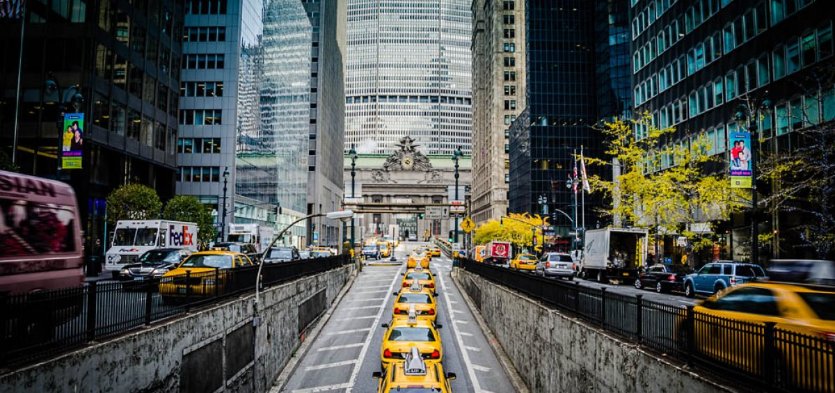 Taxi cabs on NYC Park Ave