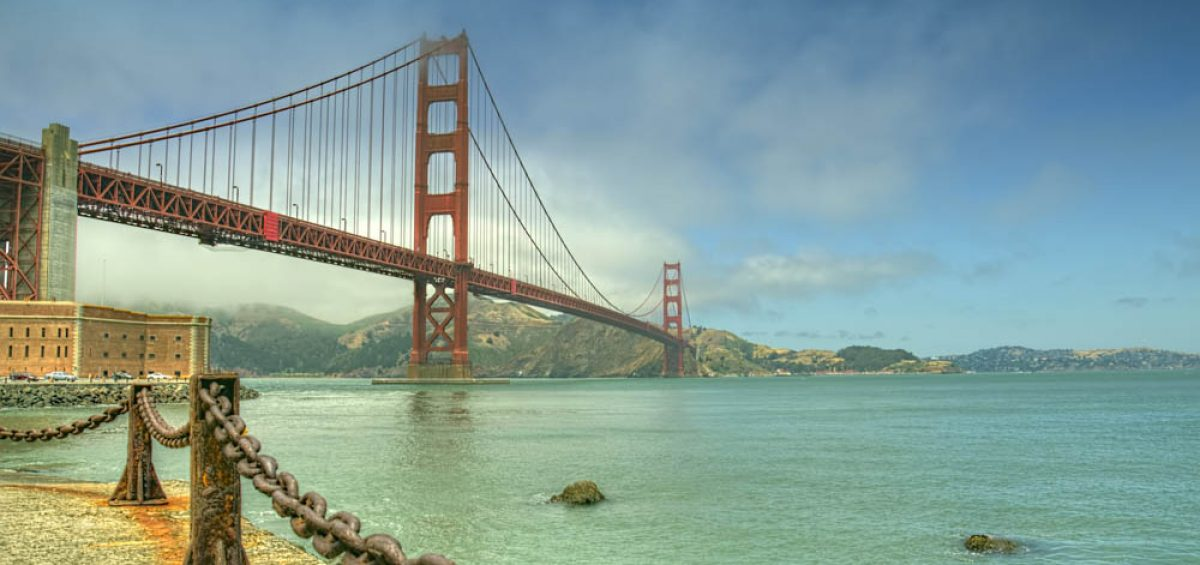 San Francisco Golden Gate Bridge. HDR