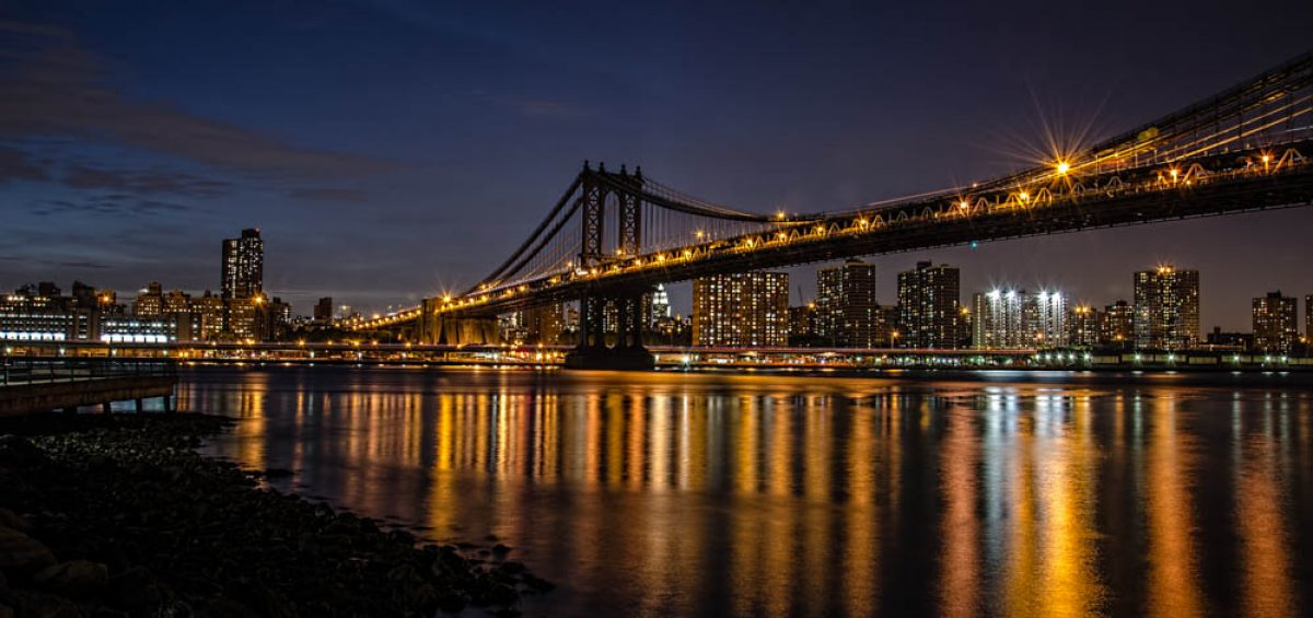 Manhattan Bridge Night View