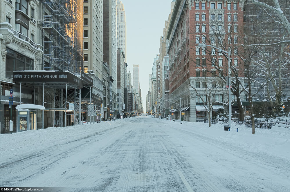 NYC Blizzard 2016. Sunday the day after.