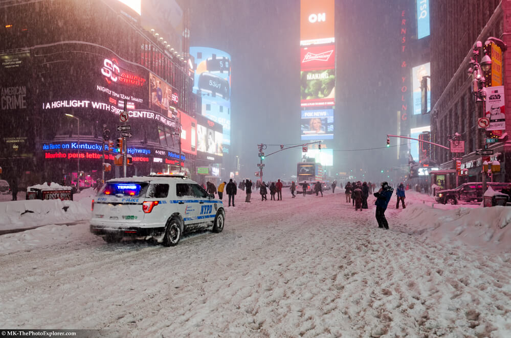 NYC Blizzard 2016 Times Square.