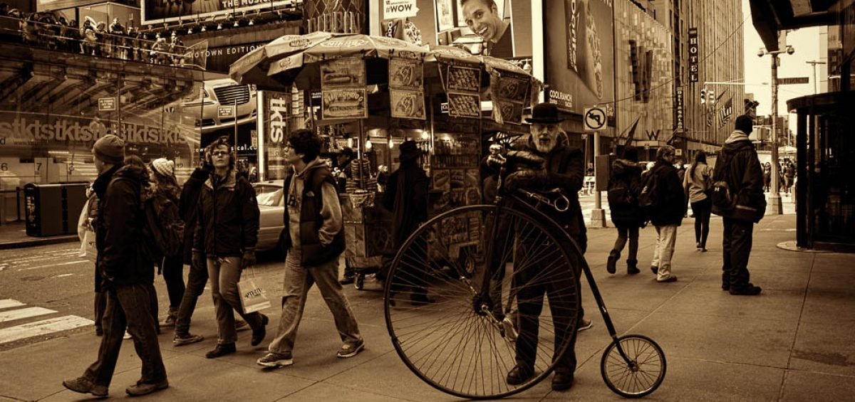 Times Square Penny-Farthing bicycle