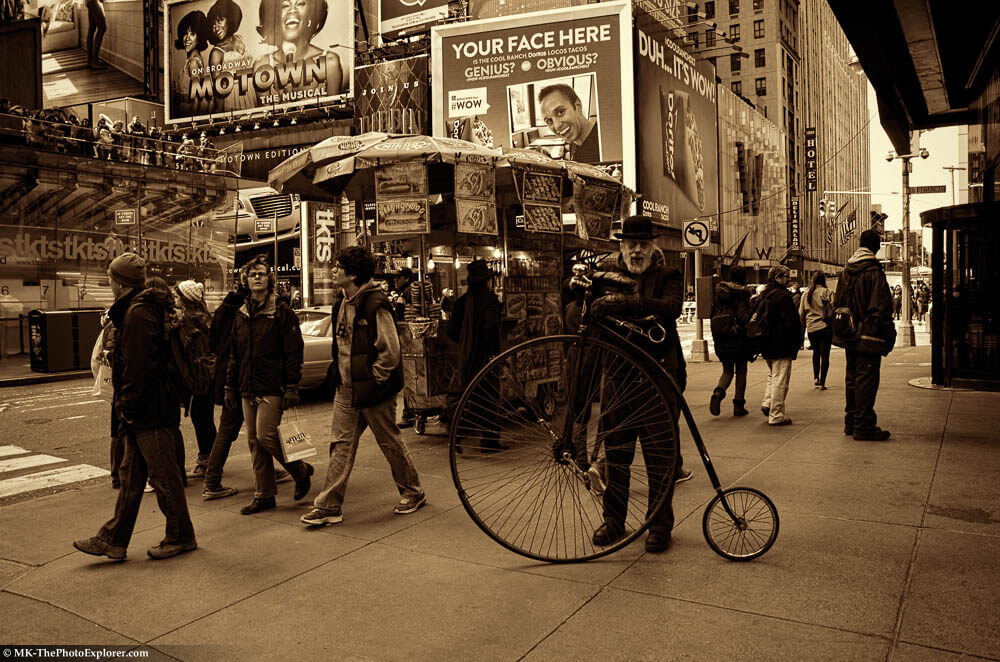 Times Square, Penny-Farthing Bicycle - ThePhotoExplorer.com