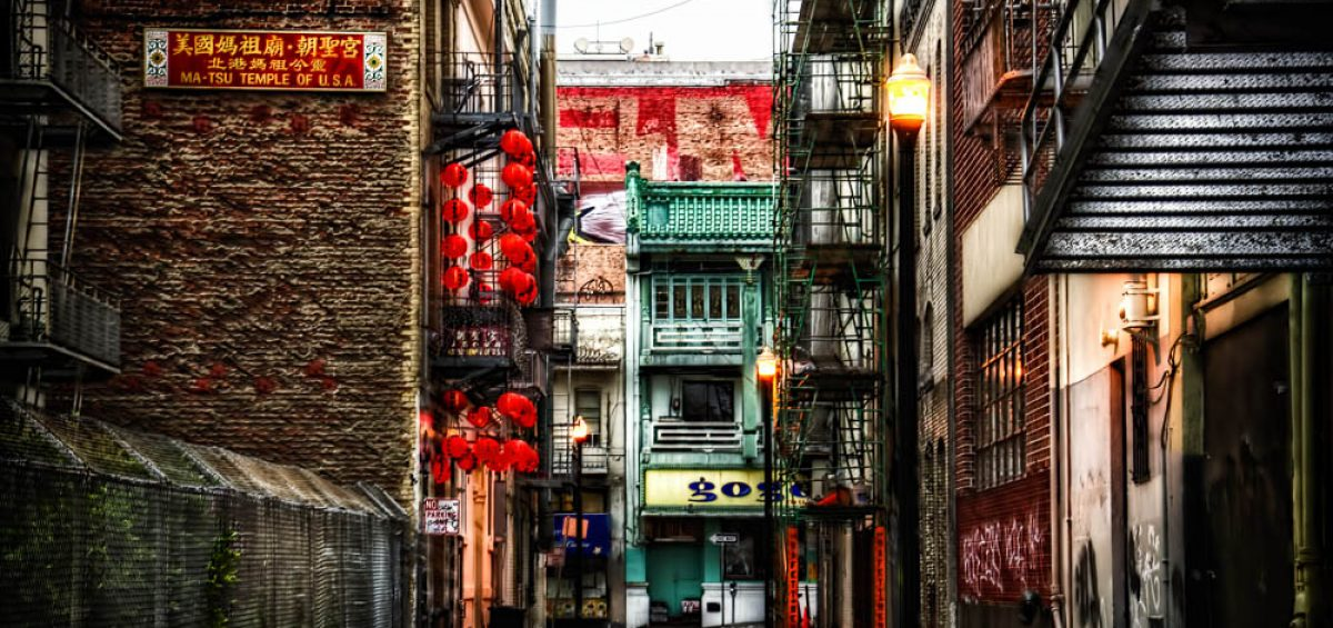 San Francisco Beckett Street in Chinatown