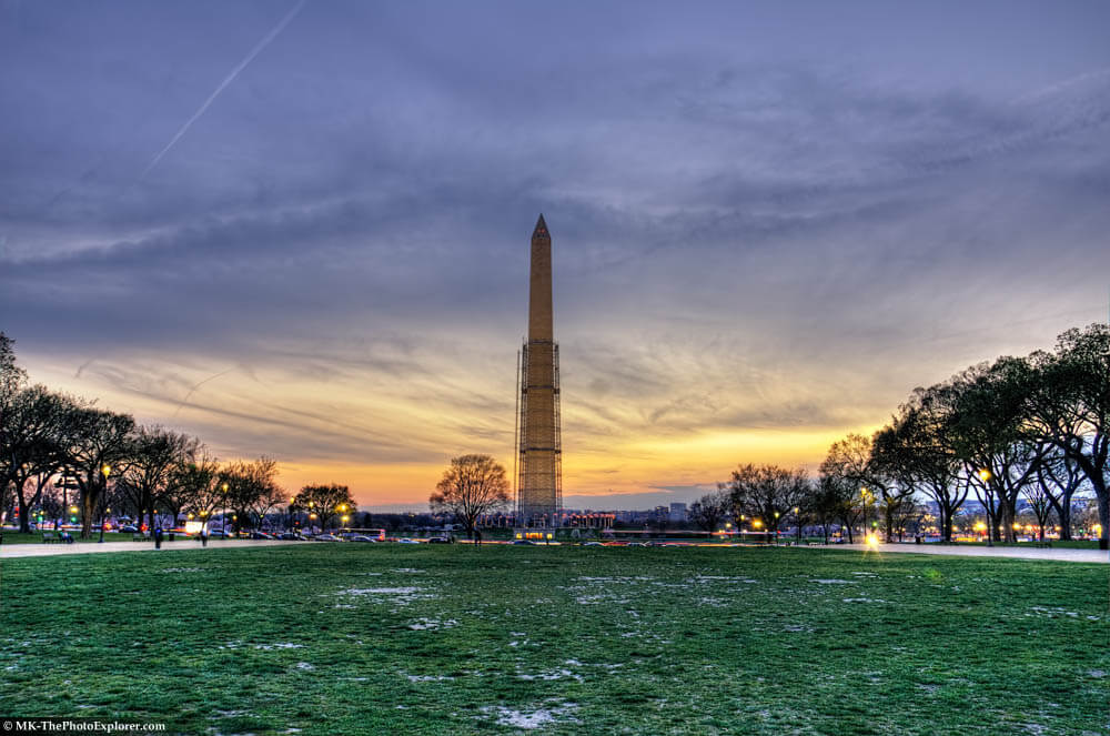 Washington Monument in HDR